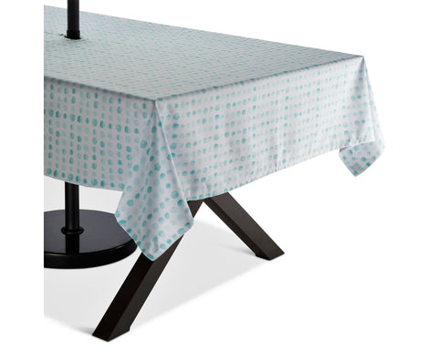 Give 10 Back 490670005205 Aqua Polka Dots Tablecloth Weight - Bleached Aqua Black Friday Cyber Monday Christmas Gift Give Ten Back Give10Back