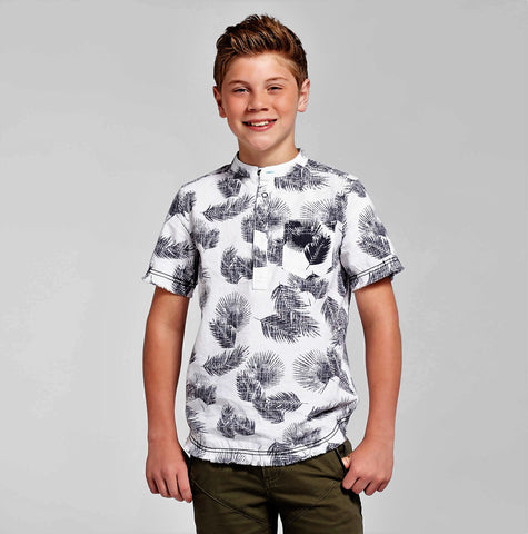 Givce 10 Back 490761722806 Boys' Palm Popover Button Down Shirt Art Class - Ebony, Black Give Ten Back Give10Back