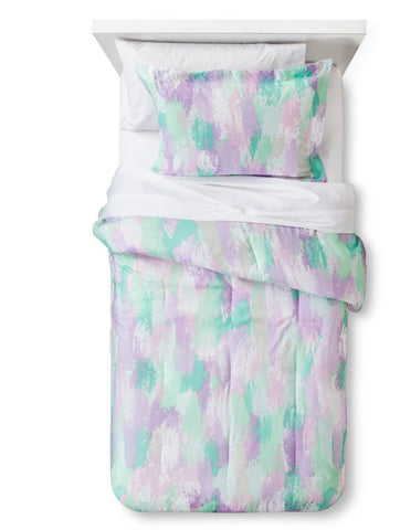 Give10Back 490970228465 Pillowfort Watercolor Wonder Comforter Set in Full/Queen Size Give10Back GiveTenBack