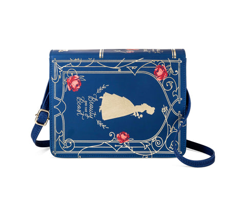 Give 10 Back 492020919941 Girls' Disney Beauty and the Beast Book Purse - Blue Give Ten Back Give10Back