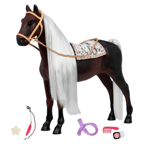 "Give 10 Back 62243315075 Our Generation Horse 20"" Hair Play Glitter Rocky Mountain Give Ten Back Give10Back"
