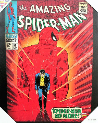 "Give 10 Back 629268575404  Marvel Comics ""spider-man No More"" Cover Issue Canvas Wall Art Give Ten Back Give10Back - Cyber-Monday-Black-Friday-Giving-Tuesday"