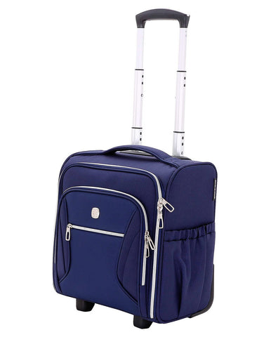 Give 10 Back 721427022092 SwissGear Checklite Carry-on Underseat Luggage - Blue Give Ten Back Give10Back