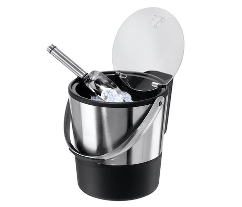Give 10 Back 764271073117 Oggi Stainless Steel Double Wall Ice Bucket and Scoop - 3.8 Liter Give Ten Back Give10Back