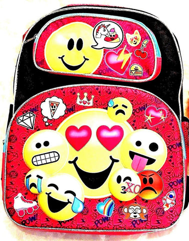 Give 10 Back 843340151458 Emojination 3D Emoji Backpack - 12 inch Give Ten Back Give10Back Cyber-Monday-Black-Friday-Giving-Tuesday