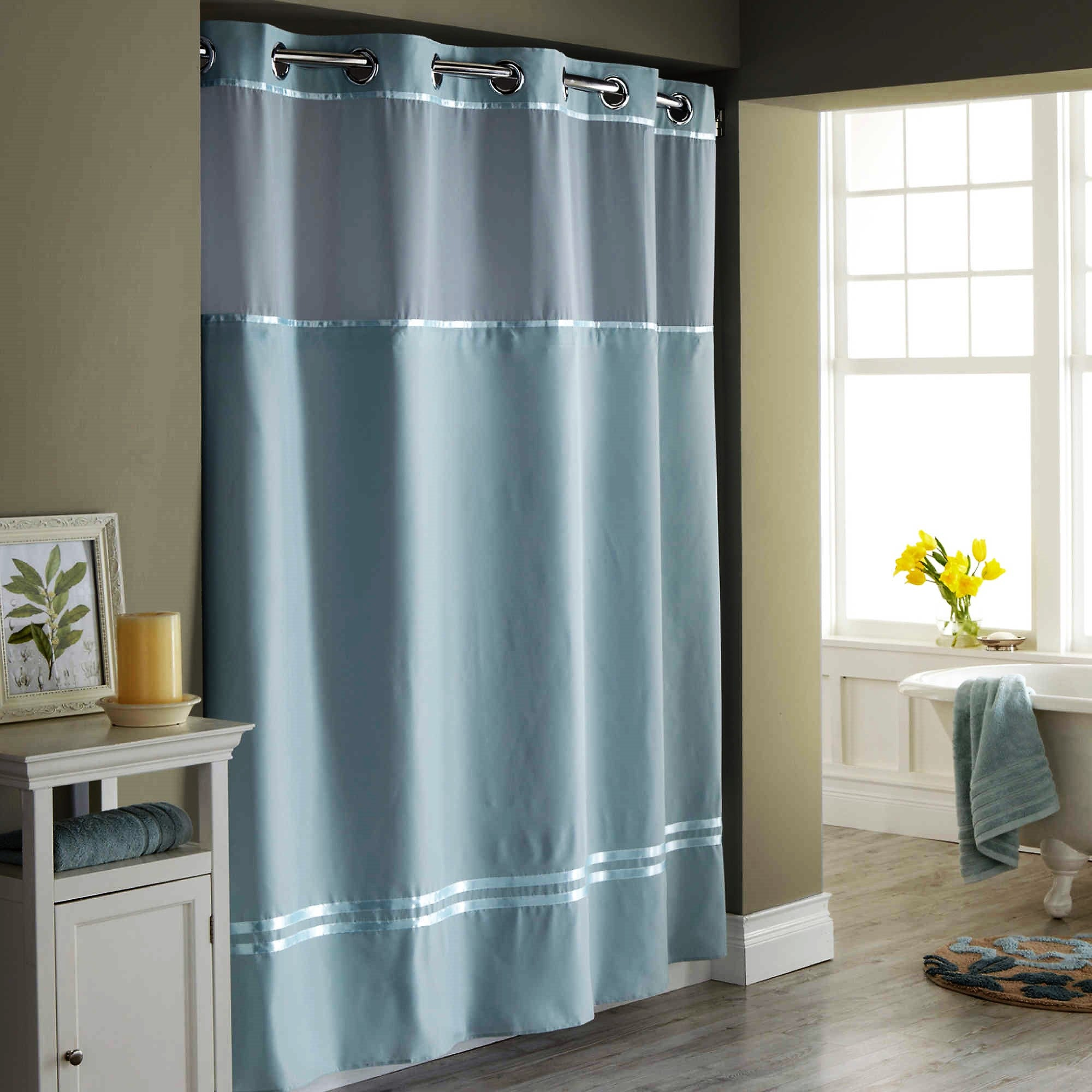 Hookless Fabric Shower Curtain and Liner – Give10Back.com