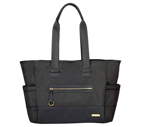 Give 10 Back 879674025929 Skip Hop CHELSEA 2-in1 Downtown Chic Diaper Tote - Black Give Ten Back Give10Back