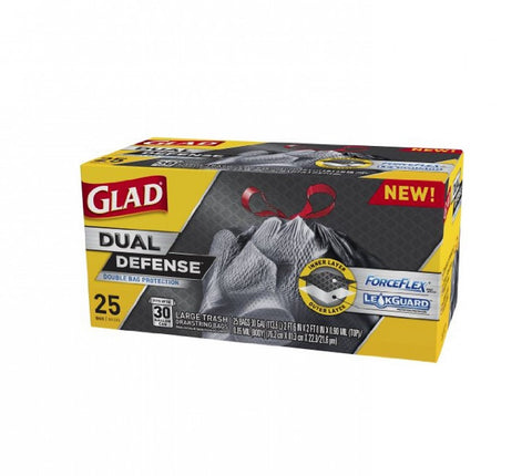 Glad Dual Defense Drawstring Large Trash Bags