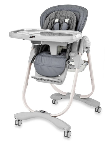 Give10Back 049796603934 Chicco Polly Magic Highchair Premium Upholstered Newborn Highchair Give 10 Back Give Ten Back