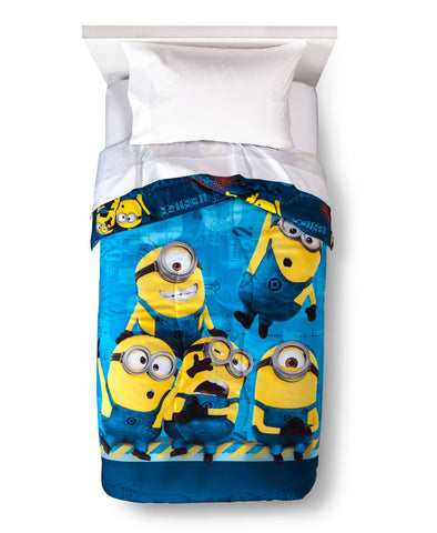 Give10Back 073558691655 Despicable Me Twin Size Comforter Black Friday Christmas Gift Sale Give 10 Back Give Ten Back