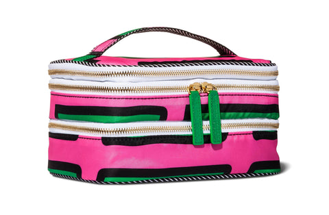 Give10Back 079642199908 Sonia Kashuk Triple Train Case Striped Cosmetic Bag Give 10 Back Give Ten Back