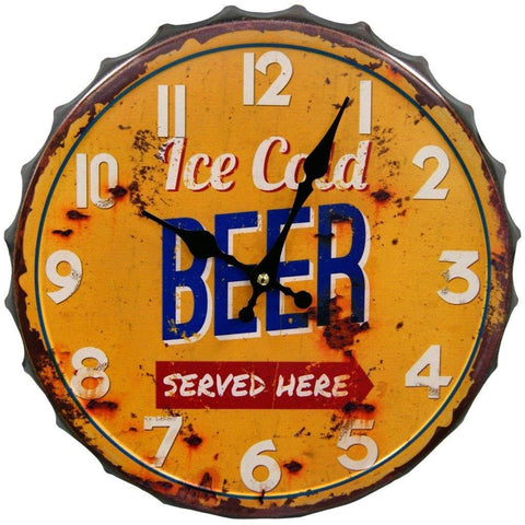 Give10Back 190480501385 Ice Cold Beer Wall Clock Give 10 Back Give Ten Back