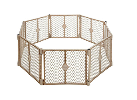 Give10Back 26107087775 North States Superyard Indoor Outdoor 8 panel Freestanding Gate Give 10 Back Give Ten Back