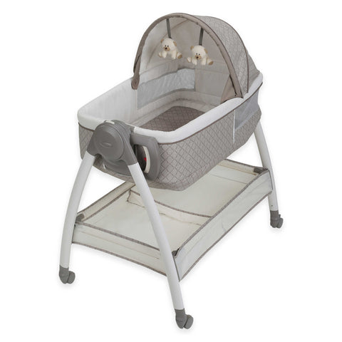 Give10Back 47406135288 Grace Dream Suite Bassinet Cream/Brown Give 10 Back Give Ten Back