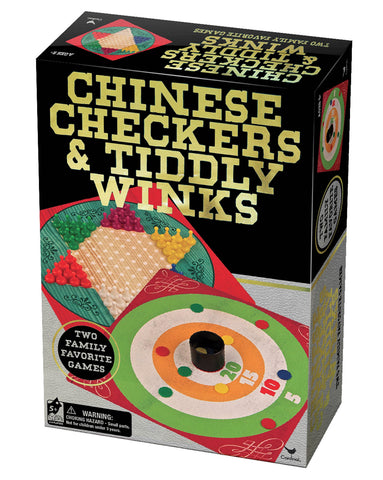 Give10Back 47754177251 Chinese Checkers Tiddly Winks Classic Games - Gold / Black Give 10 Back Give Ten Back