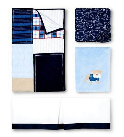Give10Back 490300264644 Circo 4 Piece Crib Bedding Set in Classic Patchwork Give 10 Back Give Ten Back