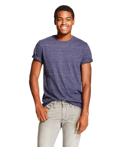 Give10Back 490430868002 Mossimo Supply Co. Men's V-Neck T-Shirt in Navy Blue - Size Small Give 10 Back Give Ten Back