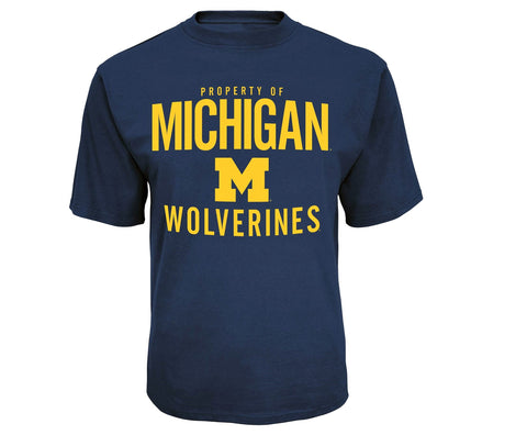 "Give10Back 490474210393 NCAA Michigan Wolverines Men's ""Property Of"" Performance T-Shirt - Size Medium Give 10 Back Give Ten Back"