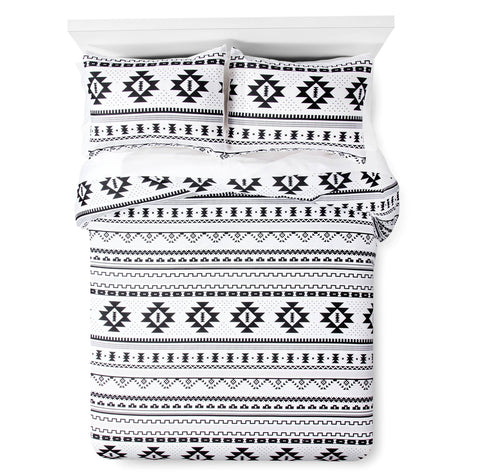 Give10Back 490601006370 Xhilaration Printed Comforter in Black & White - Full/Queen Size Give 10 Back Give Ten Back