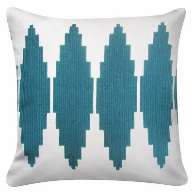 "Give10Back 490651556368 Diamond Throw Pillow Blue (18"") - Room Essentials™ Give 10 Back Give Ten Back"