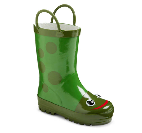 Give10Back 490931401869 Toddler Kid's Frog Rain Boots in Green Size: 11/12 Give 10 Back Give Ten Back