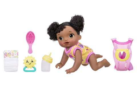 Give10Back 630509562015 Baby Alive Baby Go Bye Bye African American Realistic Doll with Accessories Give 10 Back Give Ten Back