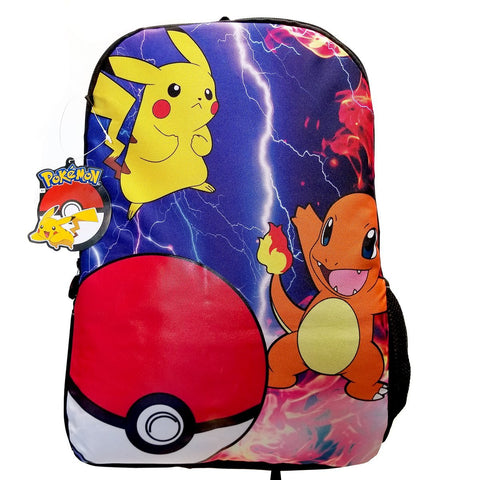 "Give-10-Back-688955858190 Pokemon 3 Character 17"" Deluxe Backpack-Give-10-Back-Give-Ten-Back-Cyber-Monday-Black-Friday"