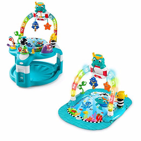 Give10Back-74451102682-Baby-Einstein-2-in-1-Lights-&-Sea-Activity-Gym-and-Saucer-Give-10-Back-Give-Ten-Back