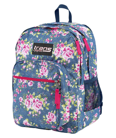 Give10Back 757969003114 Trans By Jansport Supermax Backpack - Retro Floral Give 10 Back Give Ten Back