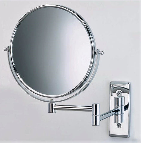 Give10Back 874479001352 Wall-Mount 8X/1X Magnifying Swivel Mirror in Chrome Give 10 Back Give Ten Back