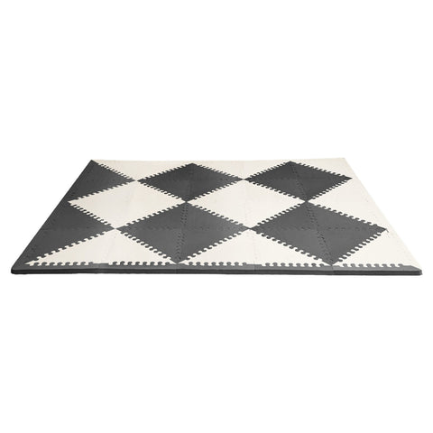 Give-10-Back-879674025592 Skip Hop Playspot Geo Foam Floor Tiles - Black/Cream-Give-10-Back-Give-Ten-Back
