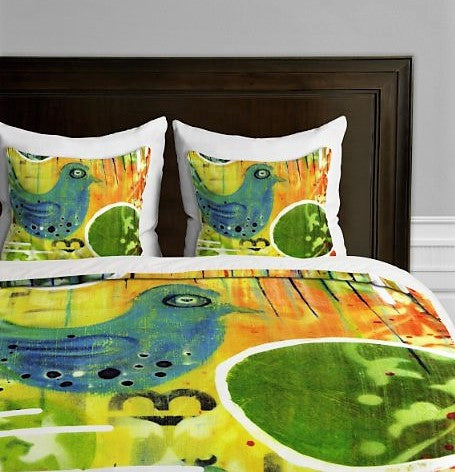 Give10Back 887522008451 DENY Designs Sophia Buddenhagen Blue Bird Duvet Cover King Size Give 10 Back Give Ten Back