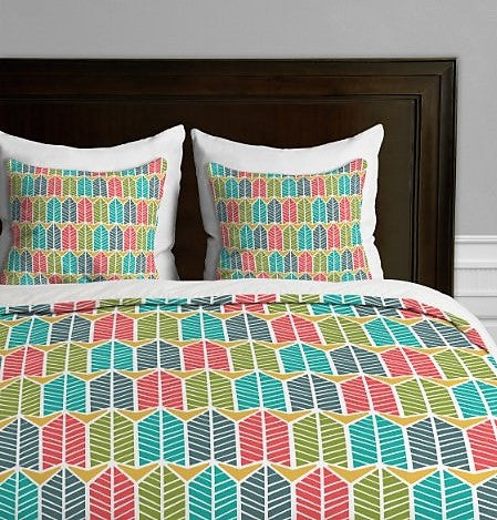 Give10Back 887522011727 DENY Designs Heather Dutton Arboretum Leafy Multi Duvet Cover, King Give 10 Back Give Ten Back