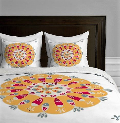 Give10Back 887522013295 DENY DesignsGabriela Larios Crown of Fishes Duvet Cover, King Give 10 Back Give Ten Back