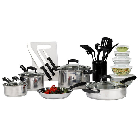 Give10Back Basic Essentials 25 Pc Stainless Steel Mega Set Black Friday Cyber Monday Give Ten Back Give 10 Back
