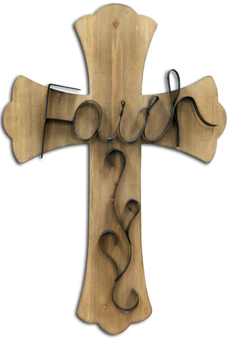 Give10Back Wood Cross Faith - 16x24 Give Ten Back Give 10 Back