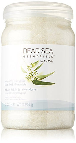 Give10Back Dead Sea Essentials by AHAVA Invigorating Eucalyptus Dead Sea Bath Crystals, 32 Fluid Ounce Give 10 Back