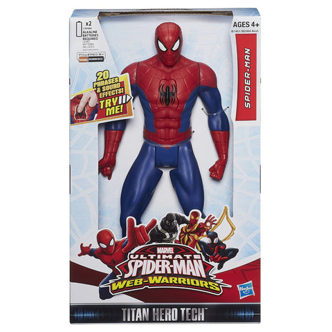 Marvel Ultimate Spider-Man Web Warriors Titan Hero Tech Electronic Spider-Man 12-Inch Figure Give10Back GiveTenBack