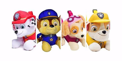 4 Pack of Paw Patrol Plush Doll Plush Backpacks