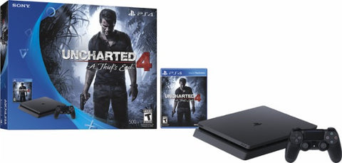 Sony PlayStation 4 Slim 500 GB Console - Uncharted 4 - A Thief's End Bundle - Give10Back - Give 10 Back
