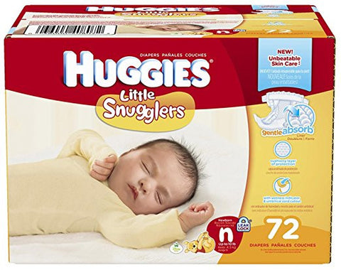 Huggies Little Snugglers Diapers - Newborn - 72 ct Give10Back.org Givetenback.org