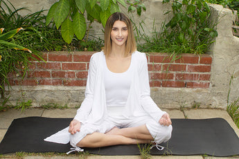 Organic White Cotton Yoga Clothing for Kundalini Practice