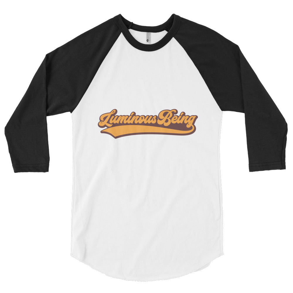 Luminous Being Baseball Vintage tee shirt  made in usa 3/4 sleeve raglan shirt