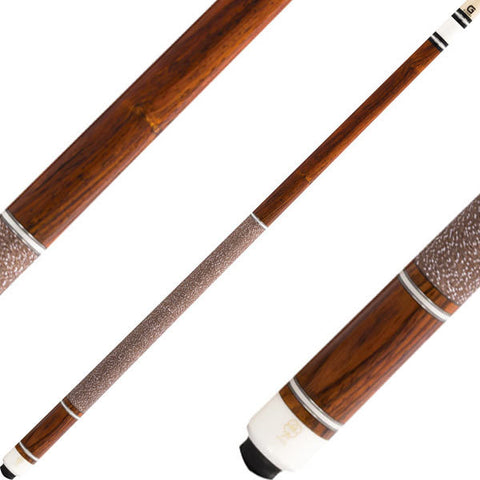 McDermott Cues G Series Cocobolo, Ivory & Silver Rings G223