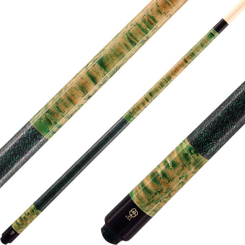 McDermott Cues Double Wash Green and Natural Walnut GS12