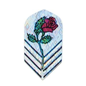 2-D Glitter Flights Slim Red Rose