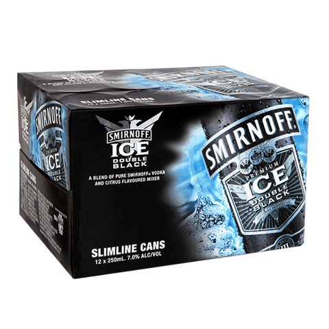 Smirnoff Ice Double Black 7% 12pk