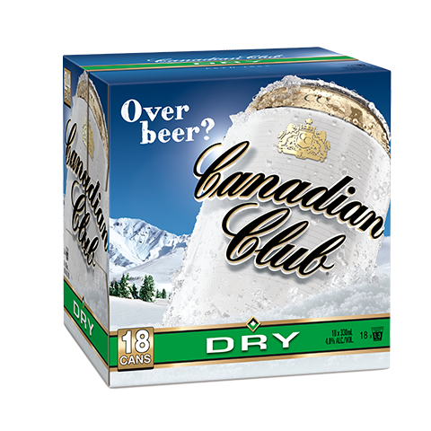 Canadian Club & Dry 18pk