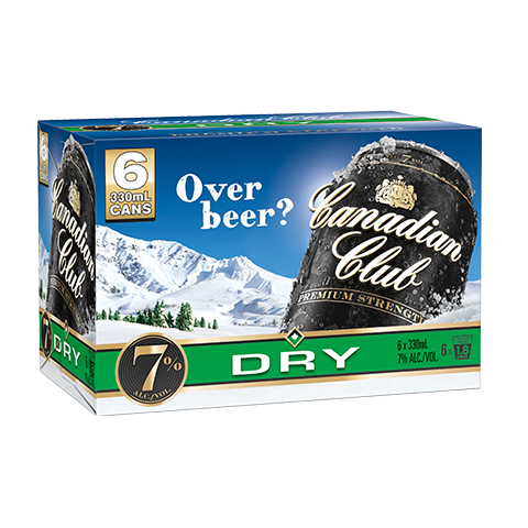 Canadian Club & Dry 7% 6pk
