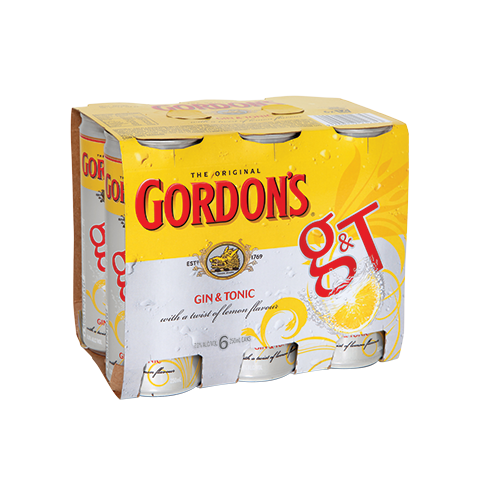 Gordon's & Tonic 7% 6pk